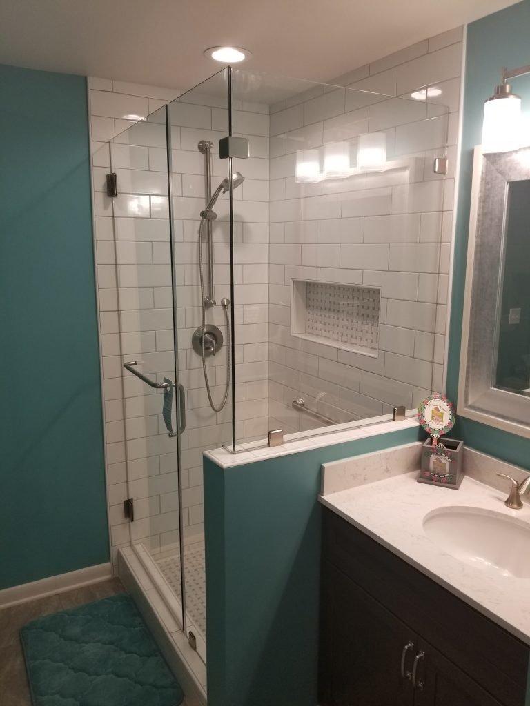 Blue Bath And Laundry Upgrade
