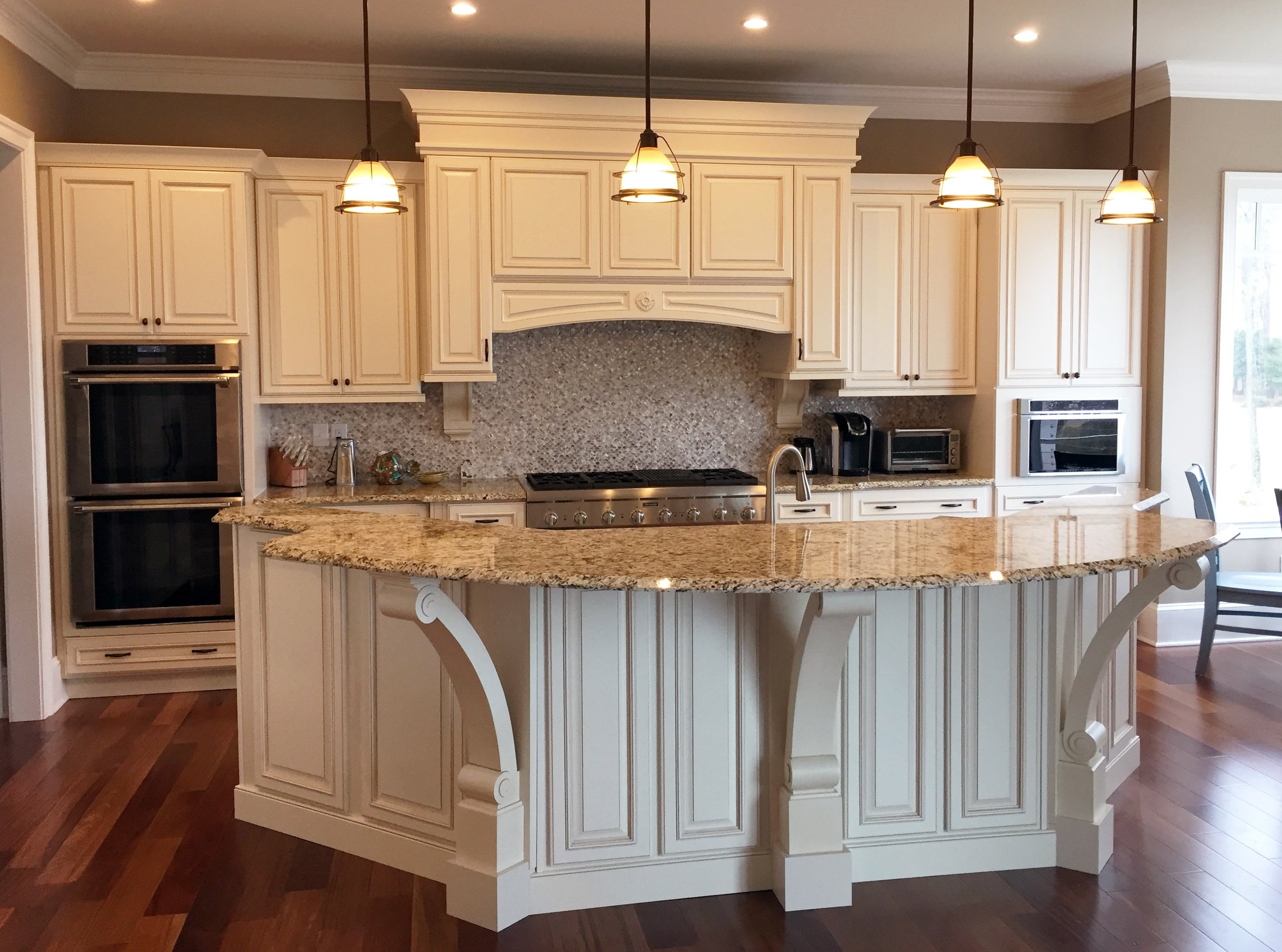 Stunning Kitchen with Decorated Island Salisbury MD